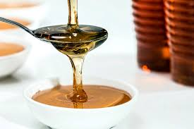 Honey as a natural treatment for acne scabs.