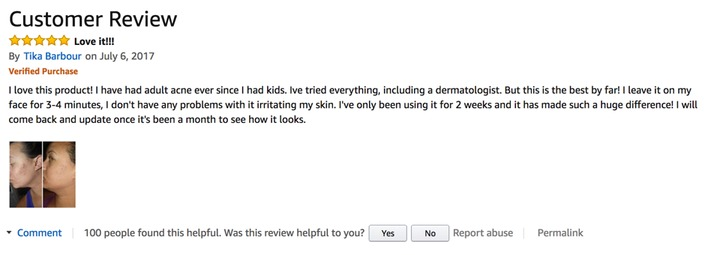 Humane acne wash customer review