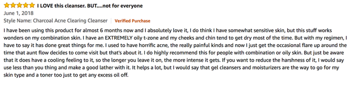 A positive Review about the BIORÉ Charcoal Acne Scrub