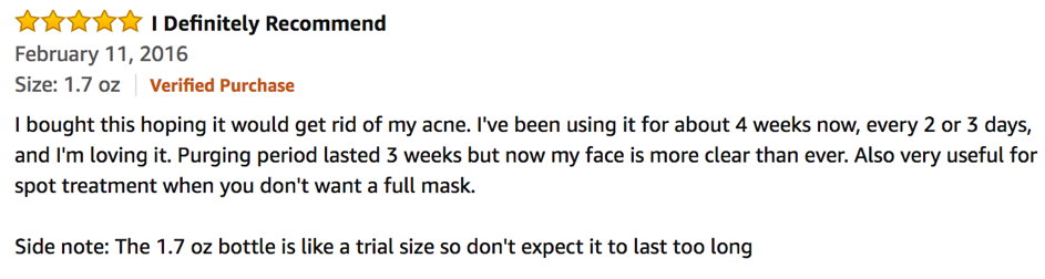 A positive Review of the Origins Charcoal Mask